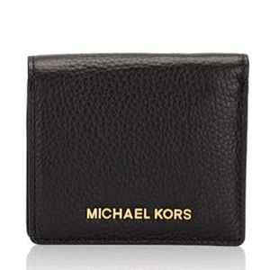 NWOT Michael Kors : Jet Set Pebble Leather Wallet